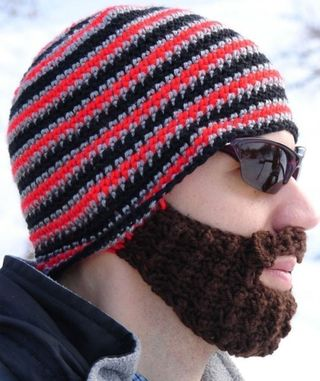 Beard-knit-cap